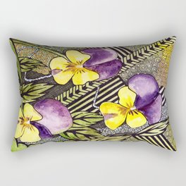 Pansies Rectangular Pillow