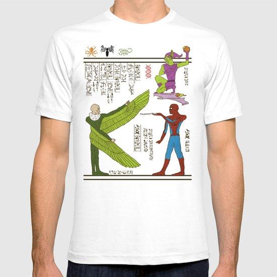 Hero-glyphics: Web-Slinger  T-shirt