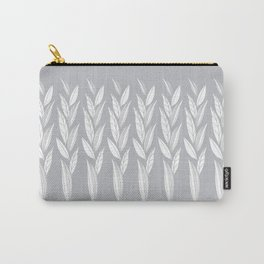 Growing Leaves: Silver Gray  Carry-All Pouch