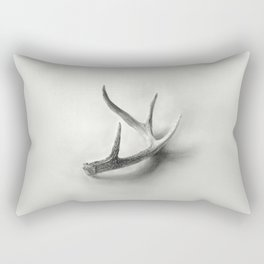 Lost and Found - Deer Antler Pencil Drawing Rectangular Pillow
