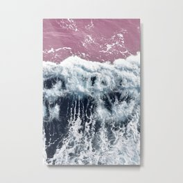 Aerial View, Blue Waves Metal Print