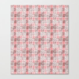 Classical red-gray cell. Canvas Print
