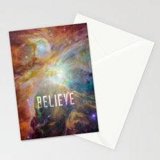 Believe -  Space and Universe Stationery Cards