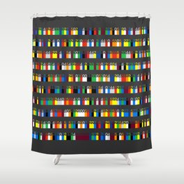 Color by Number: Pi Shower Curtain