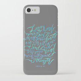 Love the Lord - Mark 12:30 iPhone Case