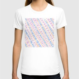 Delicate Pastel Lines Pattern T-shirt