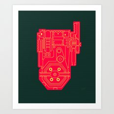 Circuit Drawing of a Proton Pack Art Print