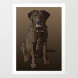 Chocolate Labrador Retriever Brown Dog Art Print
