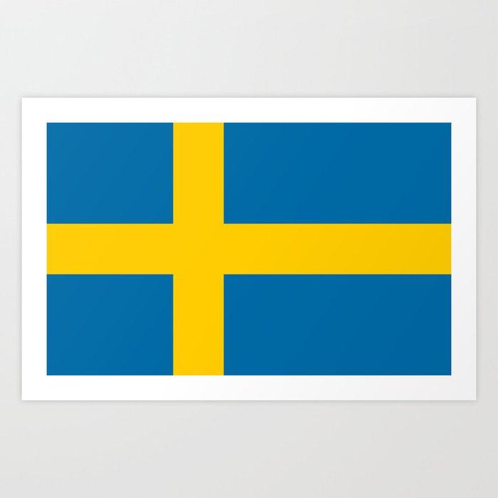 Flag of Sweden - Authentic (High Quality Image) Kunstdrucke