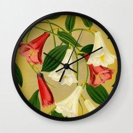 Trumpet Flowers Wall Clock