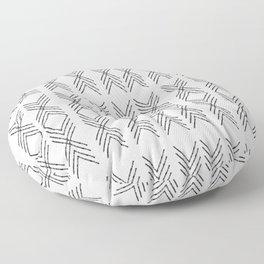 Minimal Tribal Black&White Floor Pillow