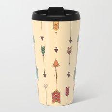 Bohemian hand drawn arrows, 01 Metal Travel Mug