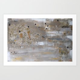 Silver and Gold Abstract Art Print