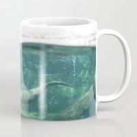 otters Mugs featuring Swimming Otters by Pokemon-Chick-1