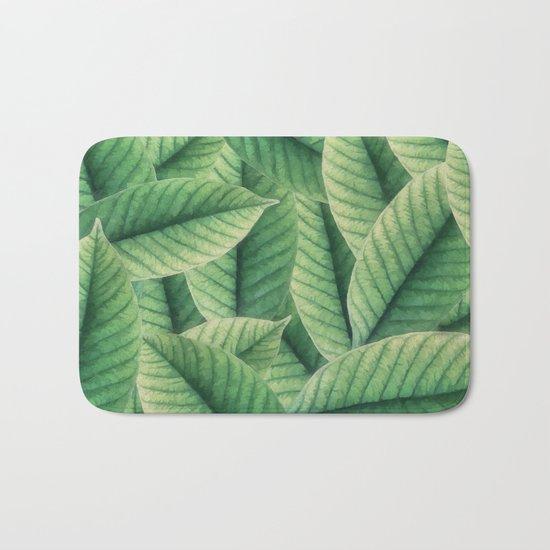 Greenery leaves II Bath Mat