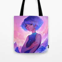loish Tote Bags featuring frost by loish