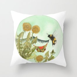 A Peek Inside the Quilted Forest // Jess Polanshek Throw Pillow