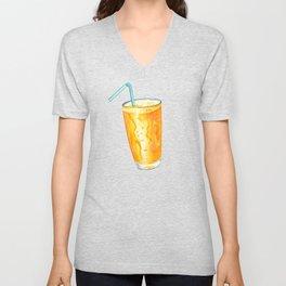 Orange Juice Pattern Unisex V-Neck