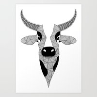 cow Art Prints featuring Cow by Art & Be