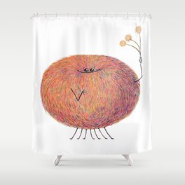 Poofy Streusel Shower Curtain
