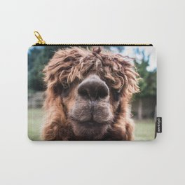 Curious Llama Carry-All Pouch