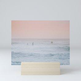 Pink Sky Ocean Mini Art Print