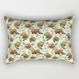 Red Panda Pattern Rectangular Pillow