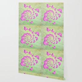 Abstract pink butterflies in swirling vortex Wallpaper