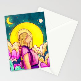 The space adventure Stationery Cards