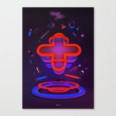 Rouge et Bleu Canvas Print