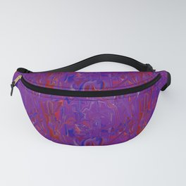 purple smears (the machine dreams a self-portrait) Fanny Pack