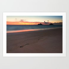 Lanikai Sunrise Art Print