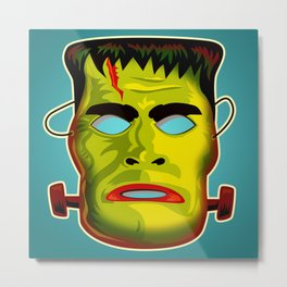 Frankenstein Monster Mask Metal Print