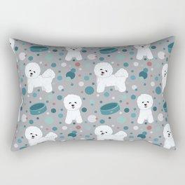 Bichon Frise dog pattern Rectangular Pillow