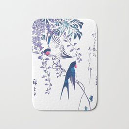 Swallow and Wisteria Bath Mat