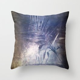 STILL LIFE WITH A PALM BRANCH. Film photography. Throw Pillow