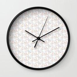 Vintage Bike Pattern Wall Clock