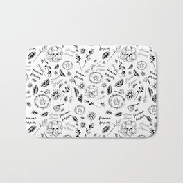 Femme Forever - Cute Floral Occult Picture Bath Mat