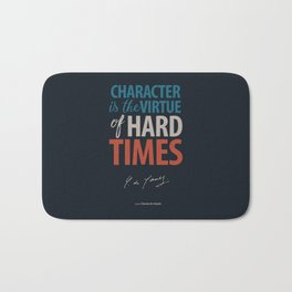 De Gaulle on Difficulties and Hard Times - Poster Illustration for inspiration and motivation Bath Mat