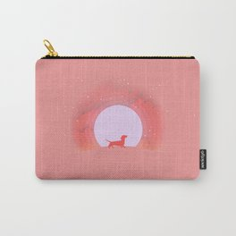 Dachshund Pink Moon Carry-All Pouch
