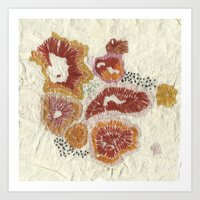 orange lichen Art Print