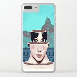 Matrioska Girl / Surrealism Clear iPhone Case