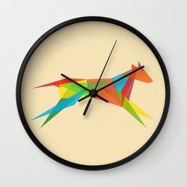 Fractal Geometric Dog Wall Clock