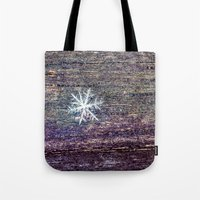 snowflake Tote Bags featuring snowflake by Bonnie Jakobsen-Martin