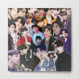 Jungkook BTS collage Metal Print