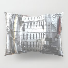 Lisbon Street Tram Pillow Sham