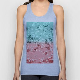 Summer Vibes Glitter Stars #1 #coral #mint #shiny #decor #art #society6 Unisex Tank Top