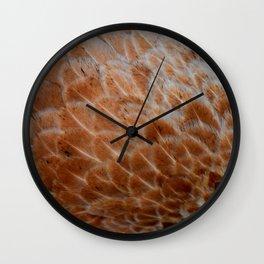 Feathers orange Wall Clock