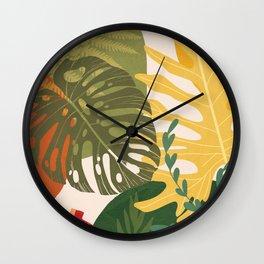 Garden on a Sunny Day 3 Wall Clock
