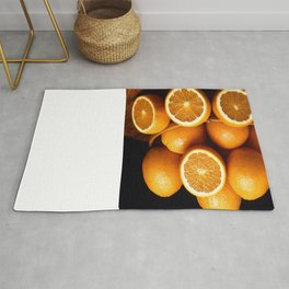 Sweet Oranges Whole and Halved Rug